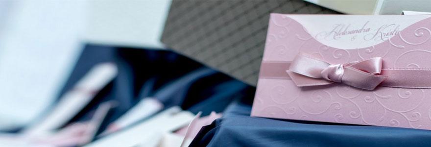 cartes d'invitation pour un mariage